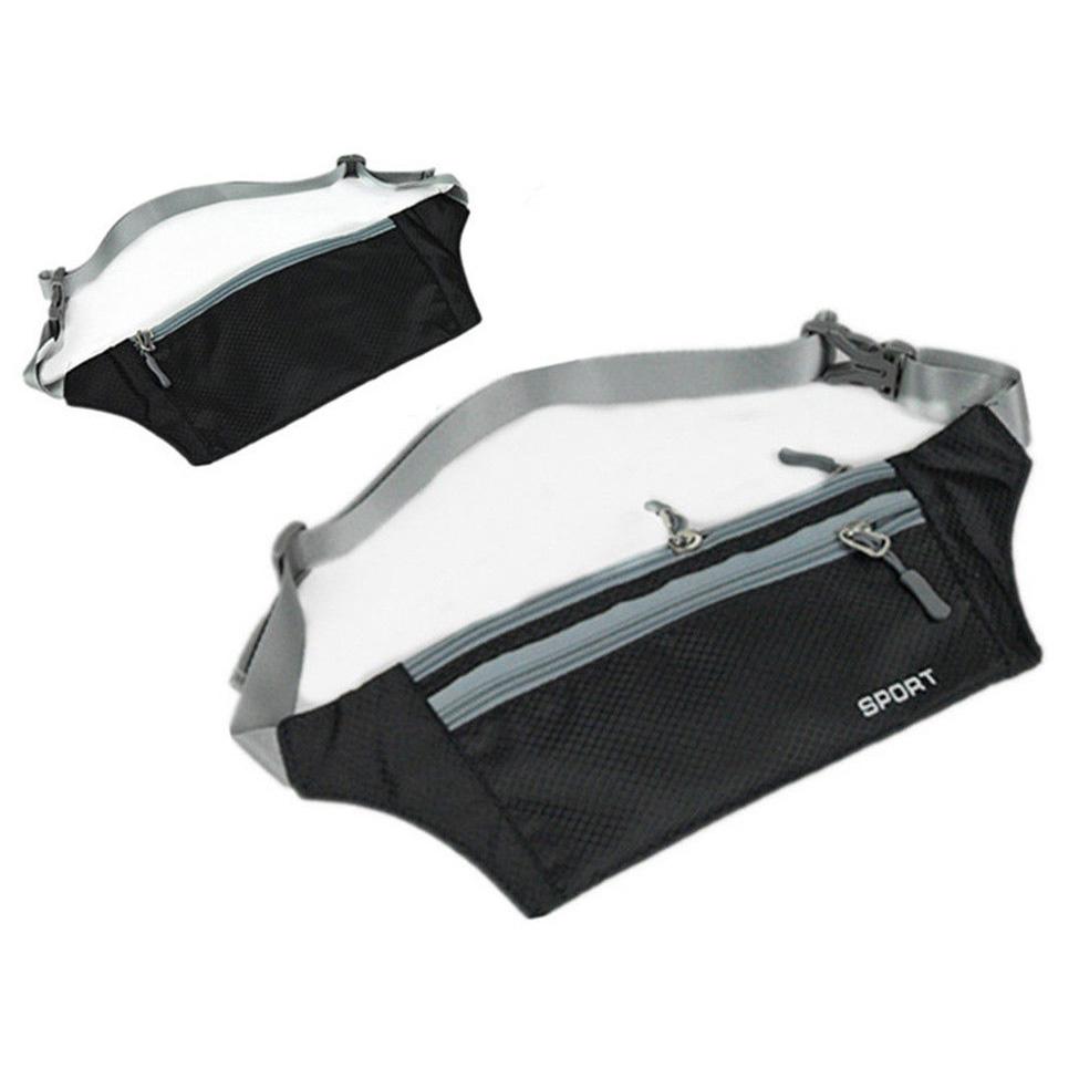 Unisex Running Bum Bag Travel Handy Hiking Sport Fanny Pack Waist Belt Zip Pouch