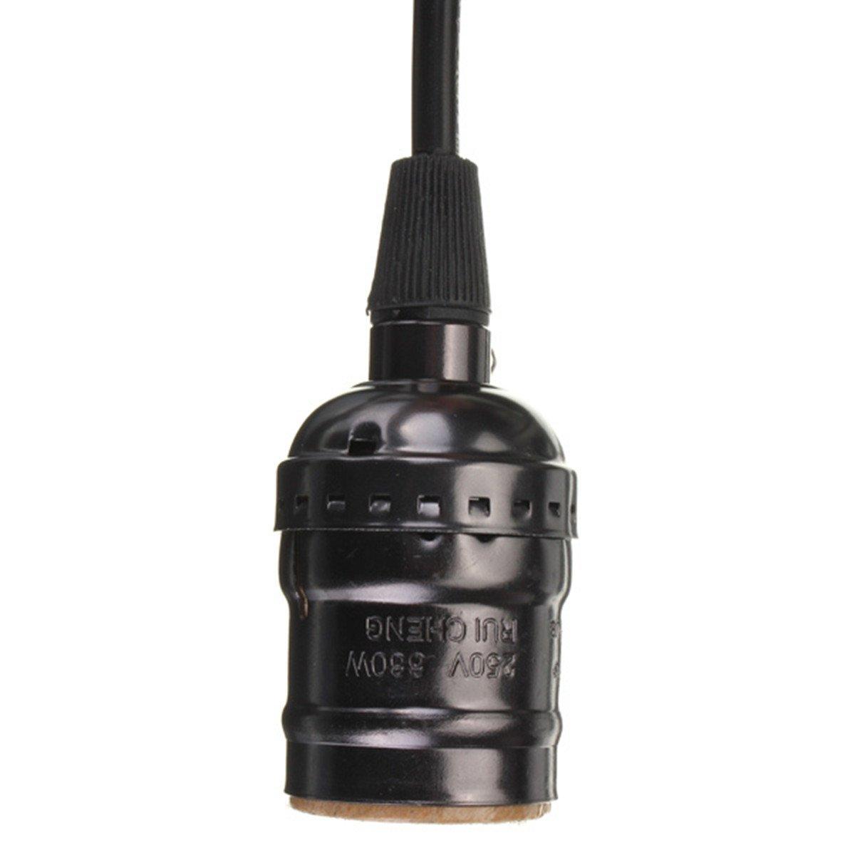 Black Edison Vintage Lamp Light Base Socket Holder E27
