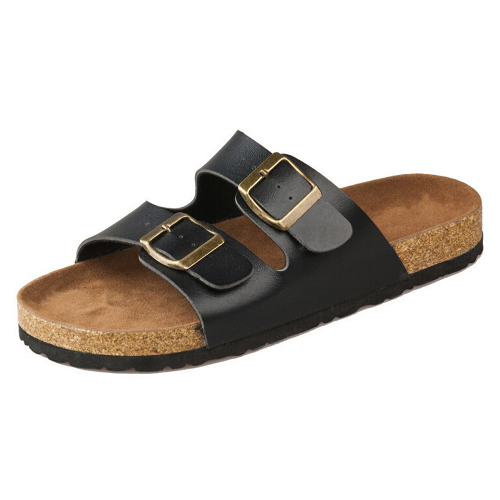 cork flats sandals summer unisex casual slippers shoes ...
