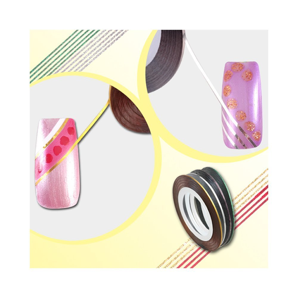 Gold Striping Tape Nail Art: 28 Color Nail Art Stripe Striping Tape Gold And Silver