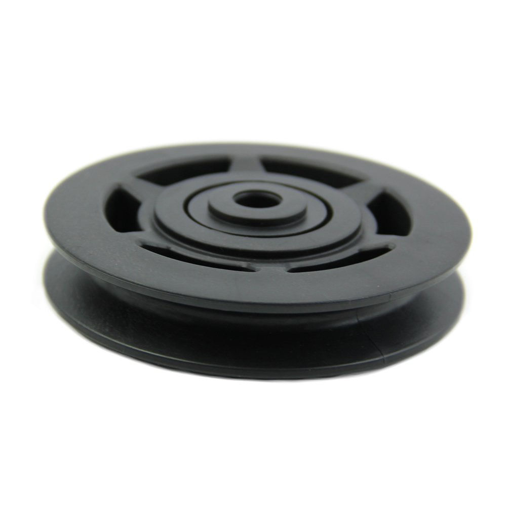 Cable Pulleys For Sale : Mm black bearing pulley wheel cable gym equipment part wearproof fp