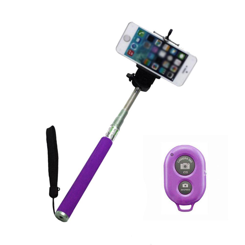 extendable self photo selfie handheld stick monopod bluetooth wireless shutter ebay. Black Bedroom Furniture Sets. Home Design Ideas
