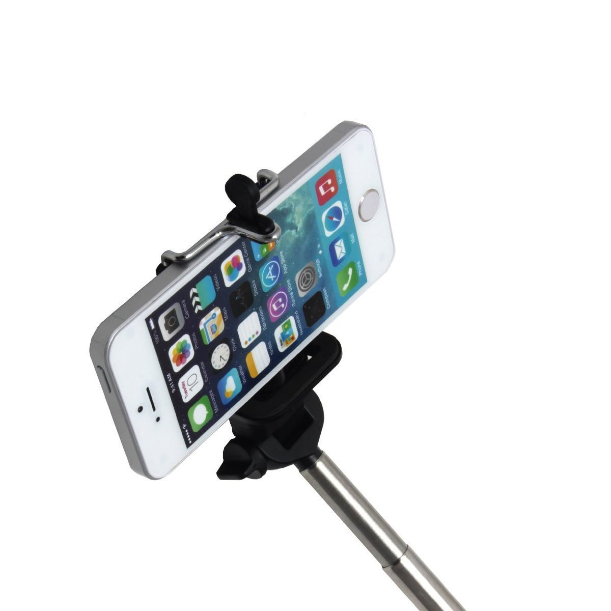 extendable selfie handheld stick monopod phone holder wireless shutter f6 ebay. Black Bedroom Furniture Sets. Home Design Ideas