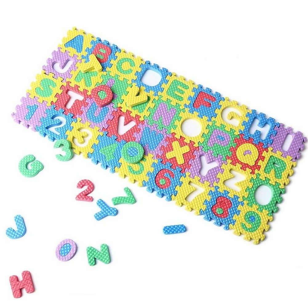 36Pcs Mini Size Puzzle Kid Educational Toy Alphabet A-Z Numeral Foam Mat S5U8