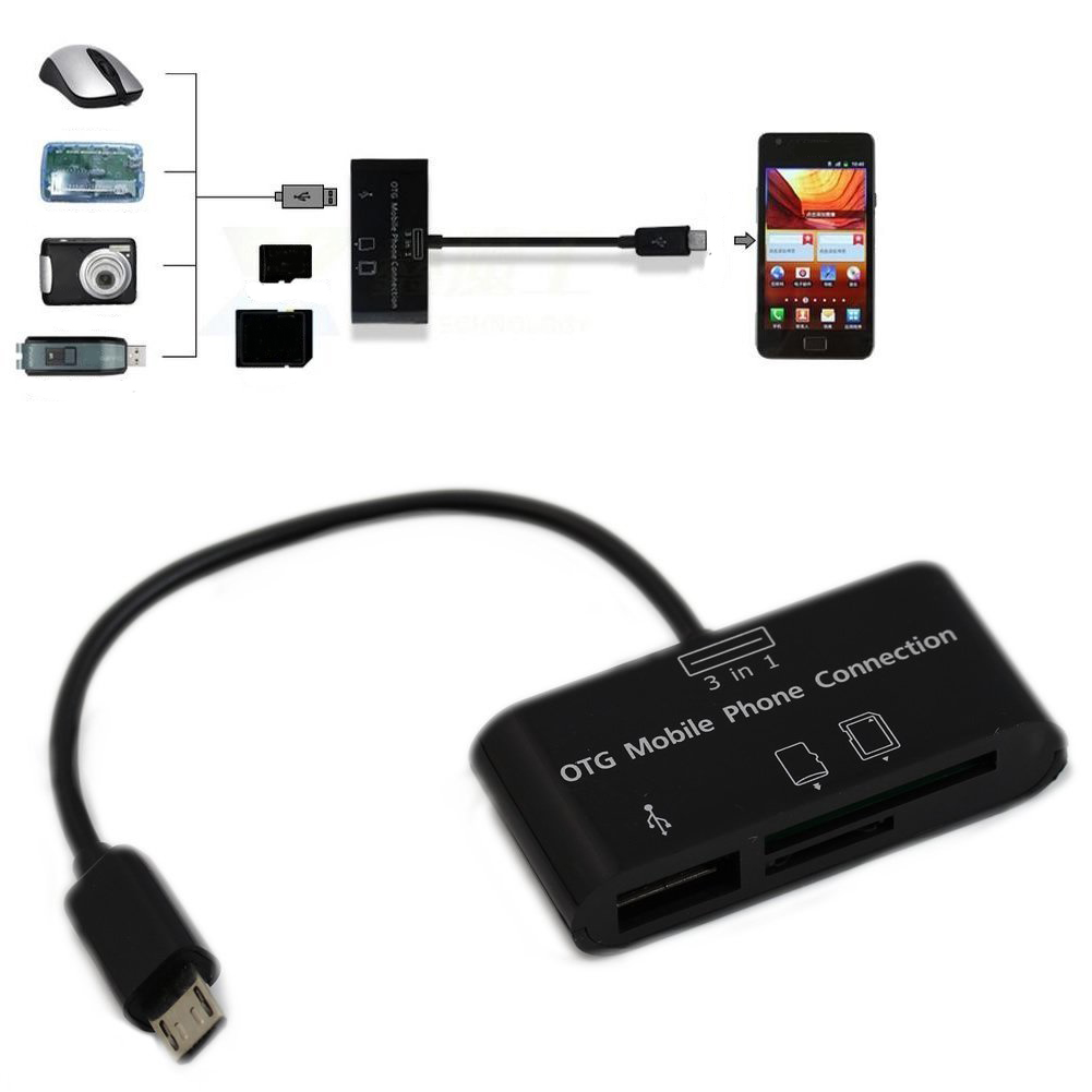 Usb Sd Apple Adapter: USB Connection Kit HUB SD Micro-SD Card Reader Adapter For