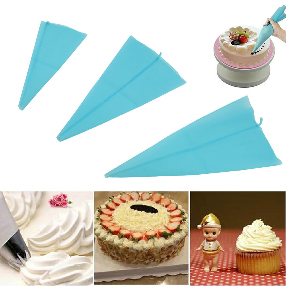 Using Cake Decorating Bags : Silicone Reusable Cake Icing Piping Cream Bag Decorating ...