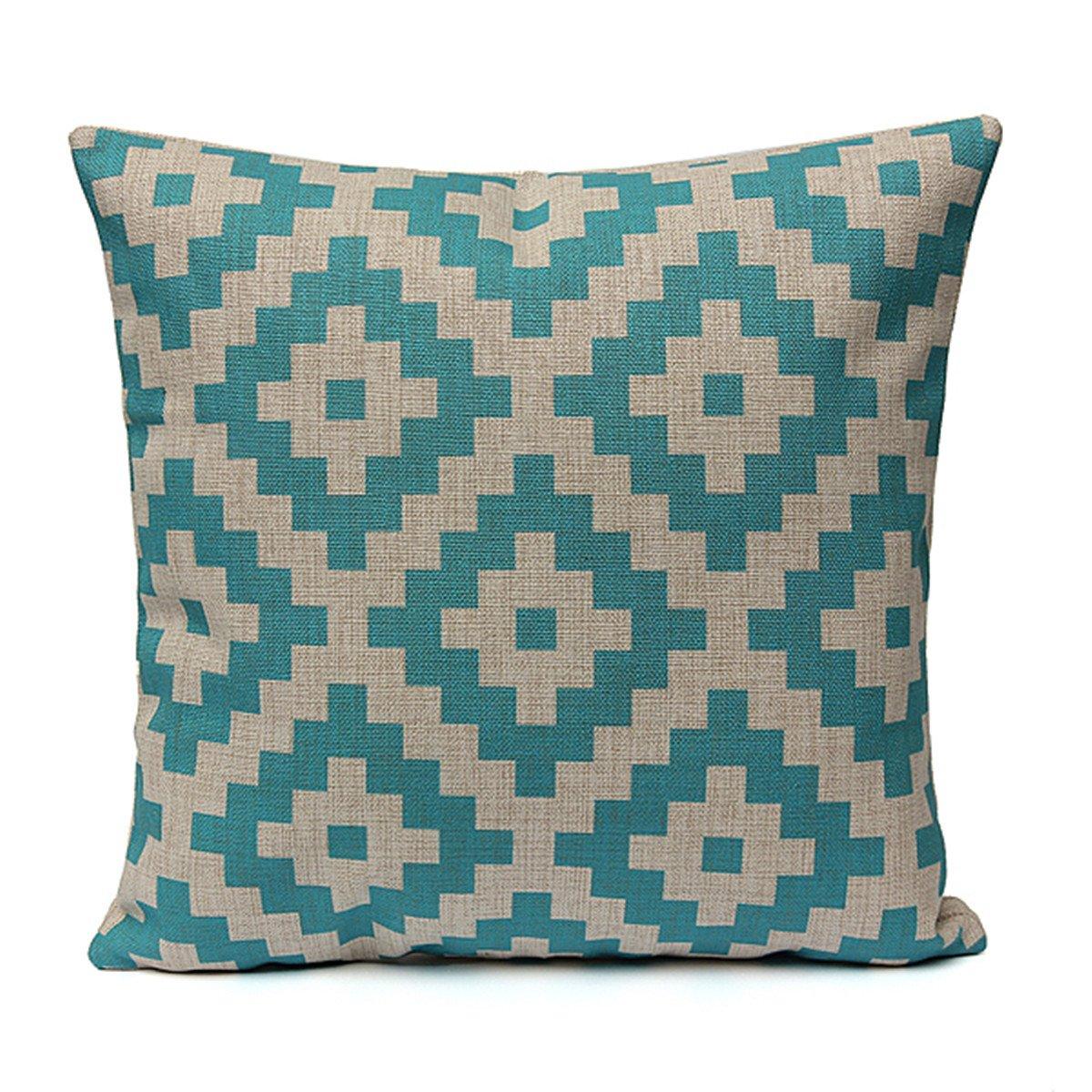 Throw Pillow Material : Geometric Cotton Linen Cushion Cover Throw Pillow Case Sofa Car Home Decorative eBay