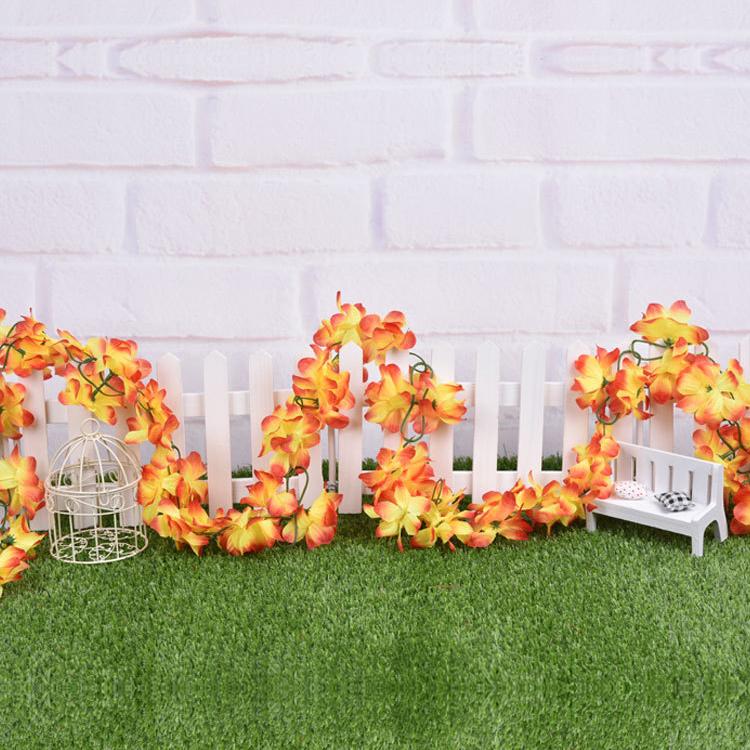 kuenstliche blumen azaleen blumengirlande girlande efeu orange et ebay. Black Bedroom Furniture Sets. Home Design Ideas