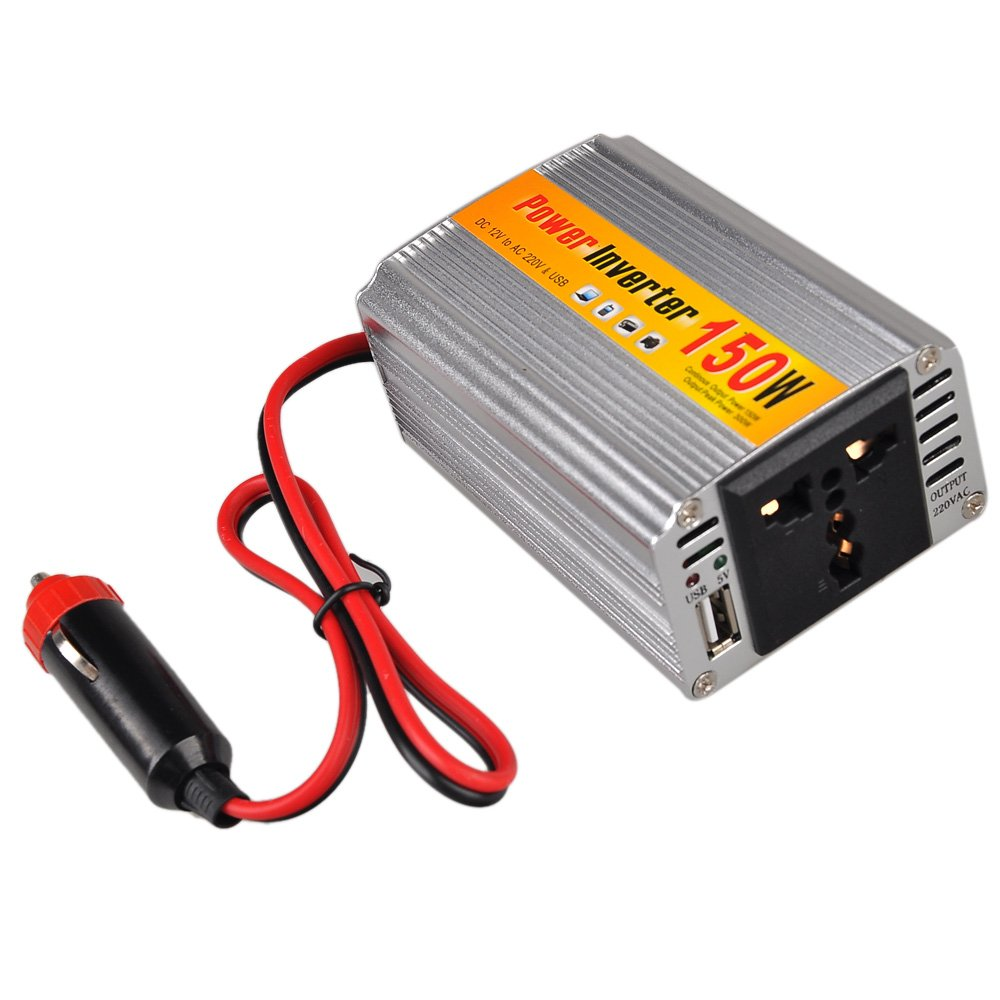 150W DC 12V to AC 220V Car Power Inverter with USB connector voltage transf 14Q4 | eBay