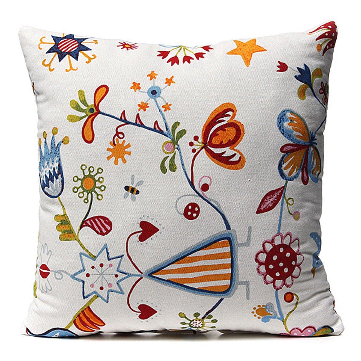kissenh lle 40x40 dekokissen baumwolle kissenbezug v gel muster gy ebay. Black Bedroom Furniture Sets. Home Design Ideas