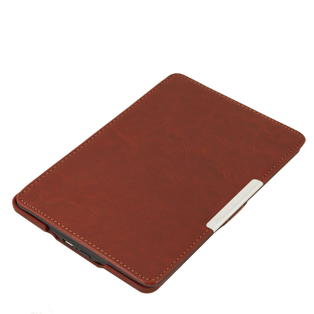 Kindle Paperwhite/Kindle paperwhite two use PU leather cover magnet featured F8J