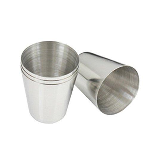 5x 1 oz 35ml stainless steel wine drinking shot glasses barware cup ss ebay. Black Bedroom Furniture Sets. Home Design Ideas