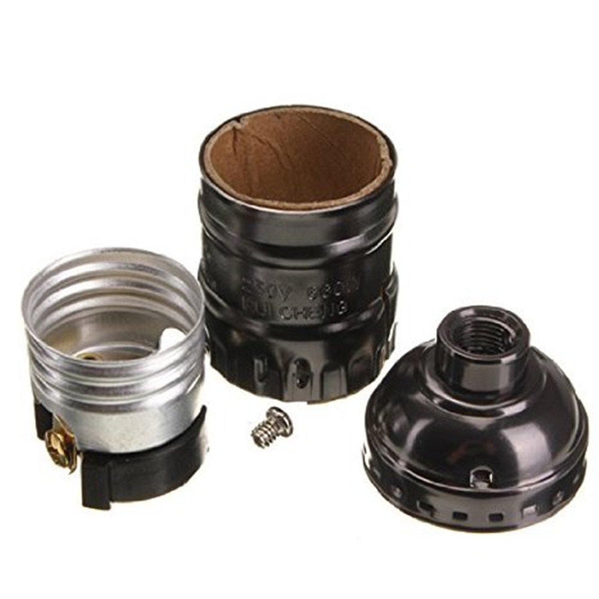 Edison Vintage Lamp Light Base Socket Holder Adapter E27 Bulbs Black Hy Ebay