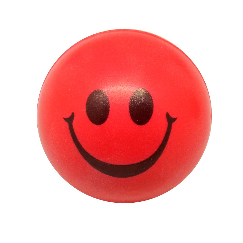 Red Ball Toy : Ws happy red smile face bouncy ball kids baby toy toys