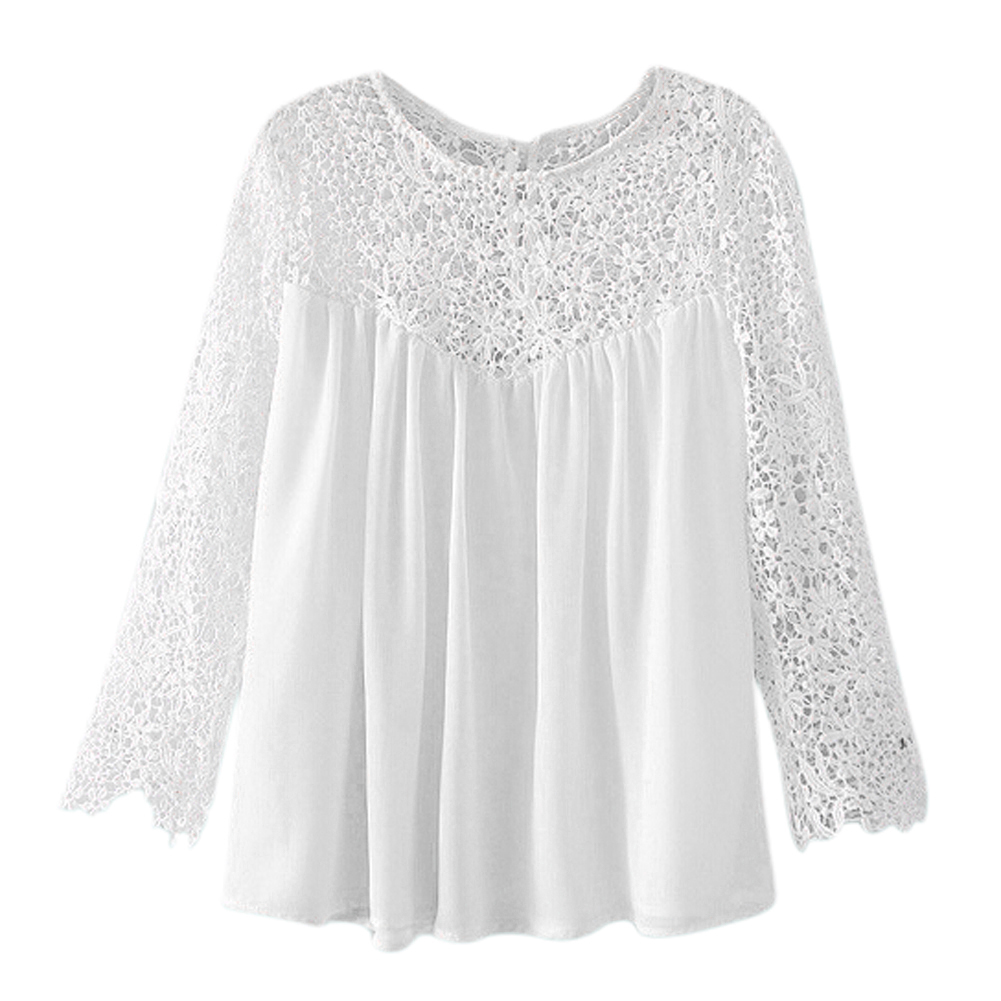 Womens-Lace-Crochet-Chiffon-Blouses-Long-Sleeve-Clothing-White-S-X2P8