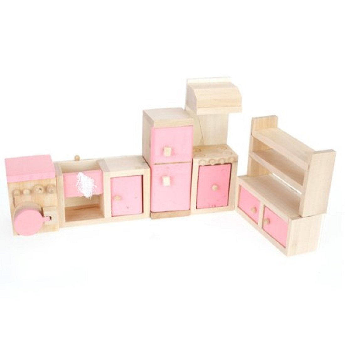 Pink Children Wooden Doll House Kitchen Furniture Kids Room Hy Ebay