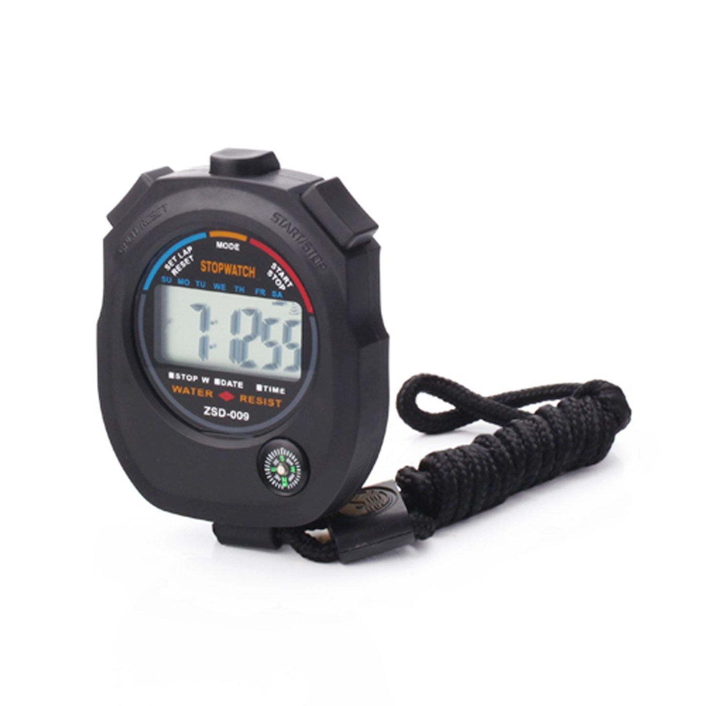 Details about Waterproof Sports Combine Digital Stopwatch Timer with  Compass and Lanyard D1B8