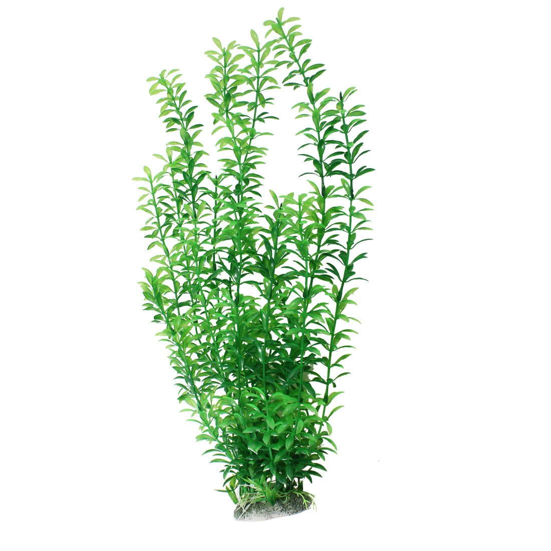 Plastic underwater aquarium grass plant decor 18 5 inches for Plastic pond plants