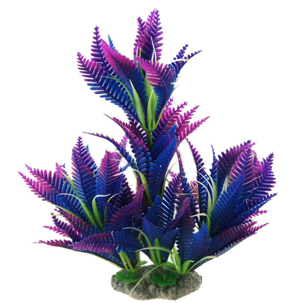 Aquarium fish tank plants - Decoration Plastic Simulated Sea Plants Flora For Aquarium Fish Tank Crafts Ad Ebay