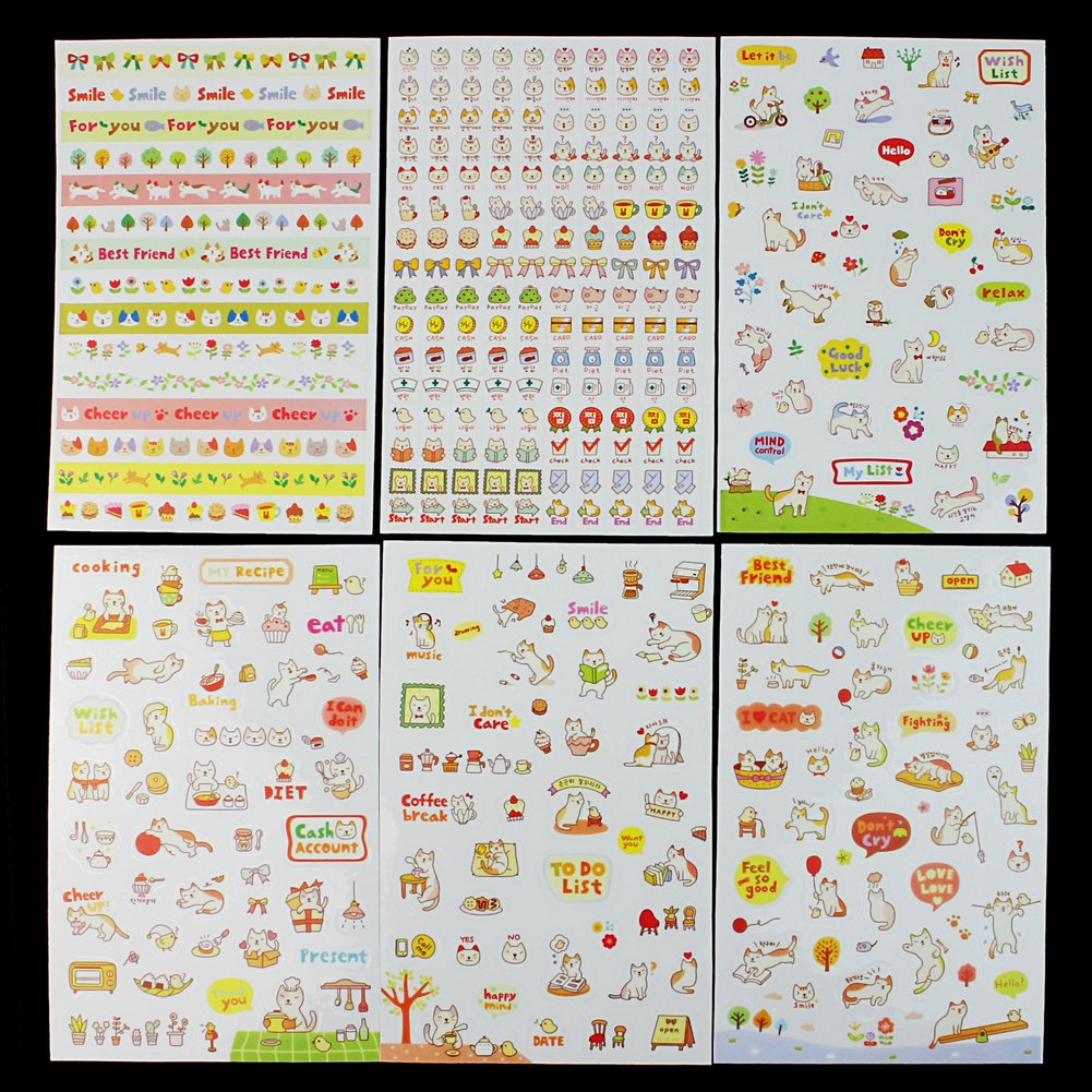 Diy Calendar Diary : Sheets cute lovely kids diy diary calendar filofax