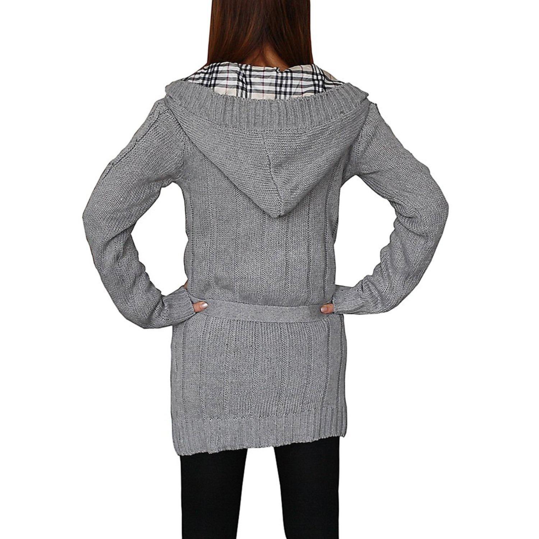 damen strickjacke kapuzenpulli jacke mantel winter outwear. Black Bedroom Furniture Sets. Home Design Ideas