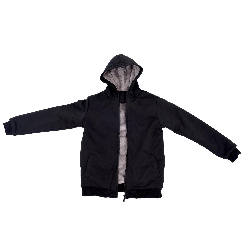 neu herren winter shirt jacke dicker samt mit kapuze mantel schwarz et. Black Bedroom Furniture Sets. Home Design Ideas