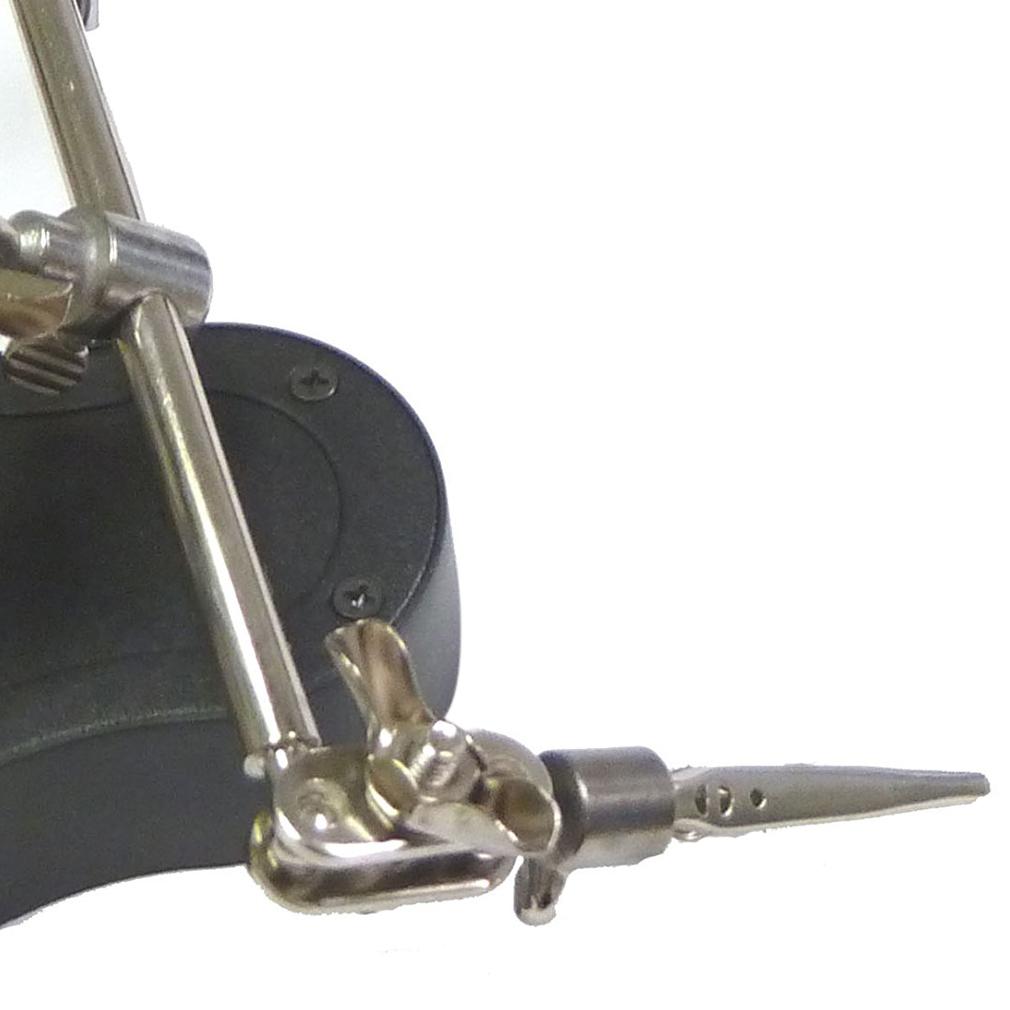 3rd helping hand magnifying soldering led iron stand lens magnifier dw ebay. Black Bedroom Furniture Sets. Home Design Ideas