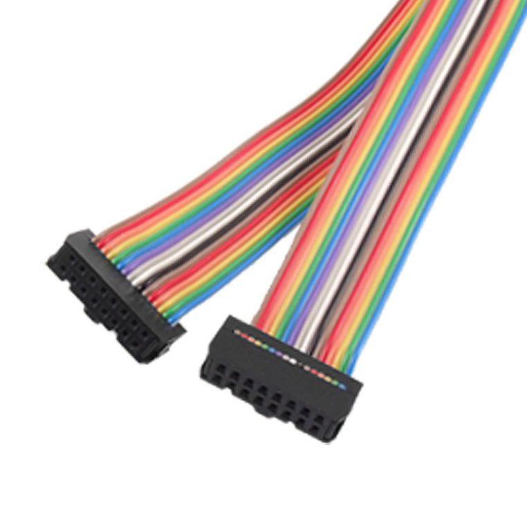Ribbon Cable Connectors : Mm pitch pin female to idc connector rainbow
