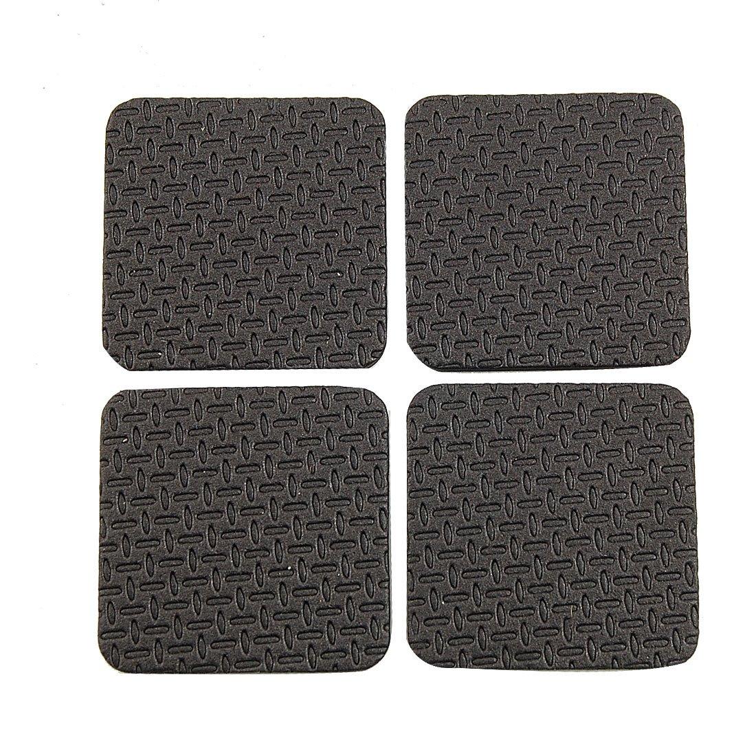4 pcs forme de carre noir antiderapant mousse adhesif tapis bloc pour meubles wt. Black Bedroom Furniture Sets. Home Design Ideas
