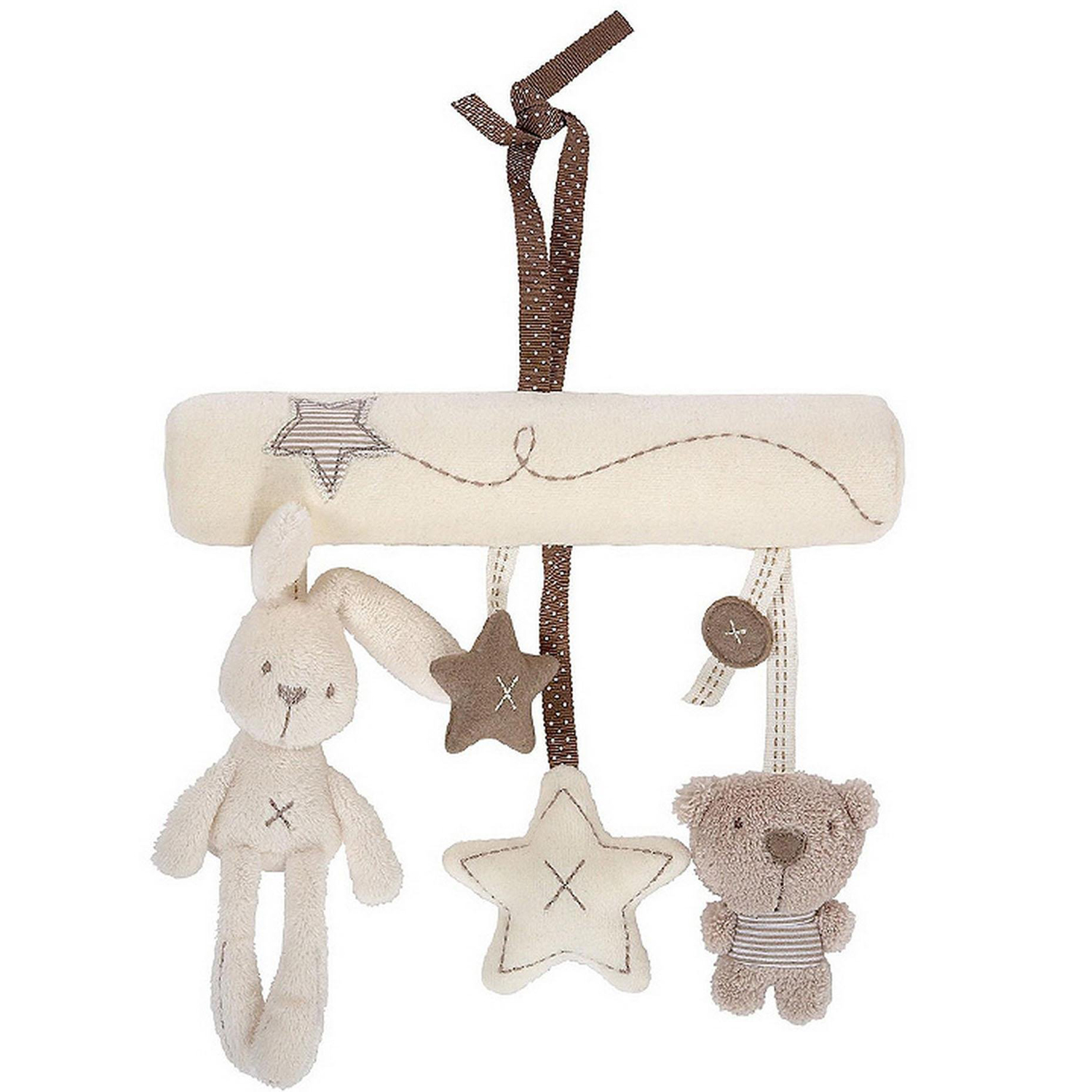 Bt Bunny Rabbit Or Dog Soft Toy Baby Nursery Cot Musical