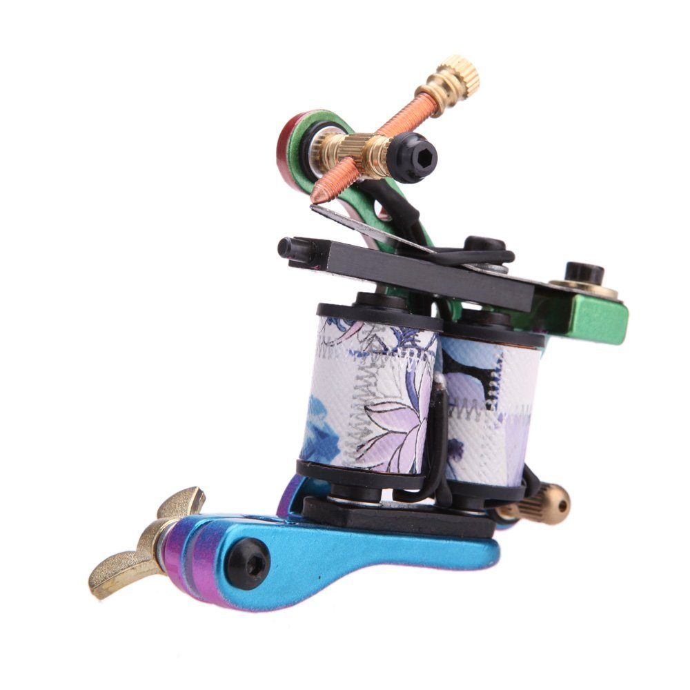 Sunny pro tattoo machine gun shader liner 10 wrap coils for Tattoo machine coil covers