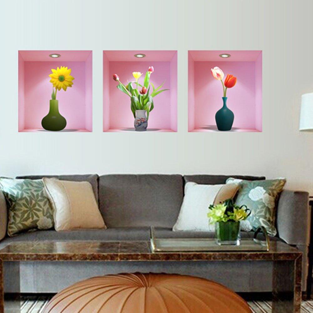 3x entfernbare kunst abziehbilder wandteppich kueche schlafzimmer dekor et ebay. Black Bedroom Furniture Sets. Home Design Ideas
