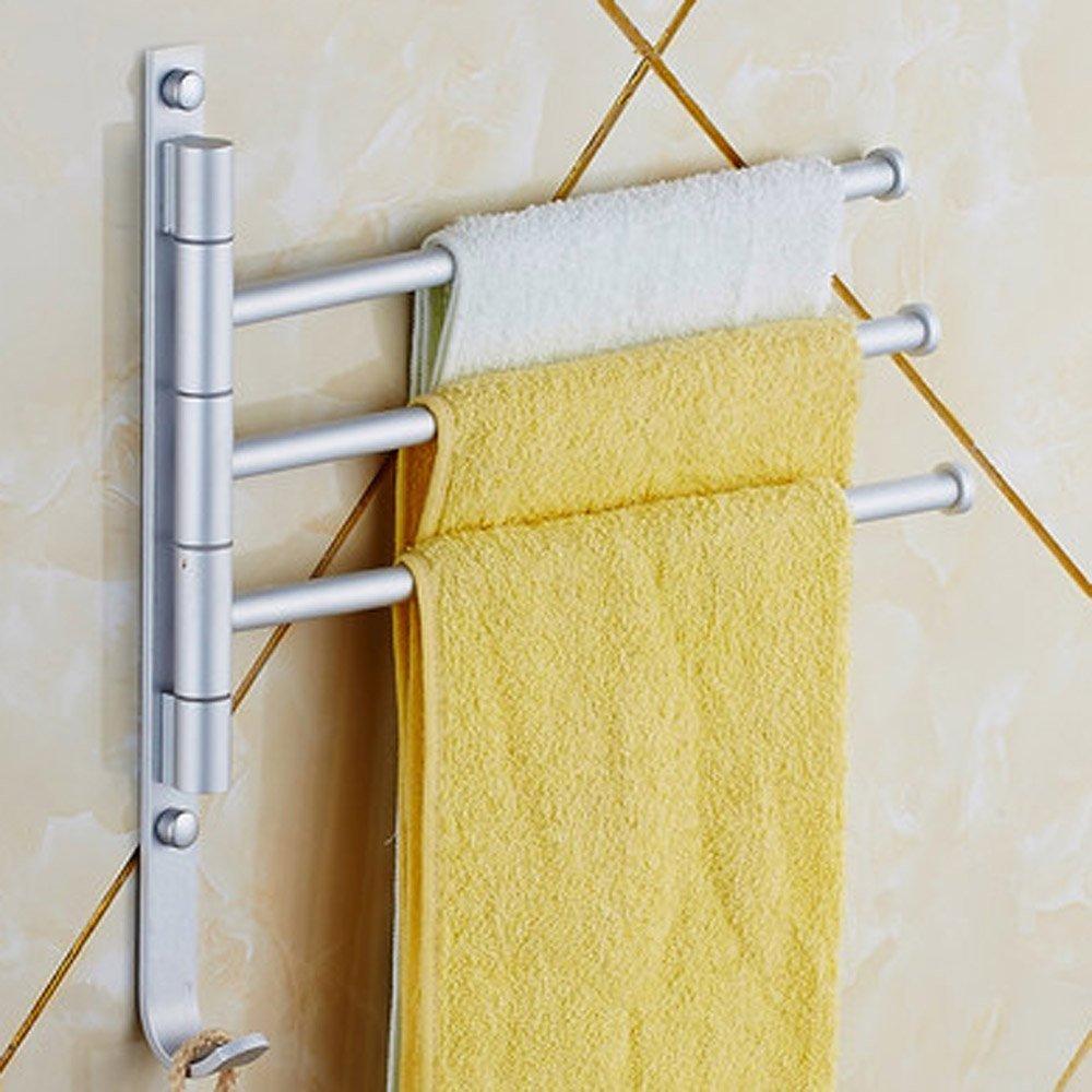 Porte serviette mural 3 barre rotative serviettes de bain - Porte serviette 3 barres ...