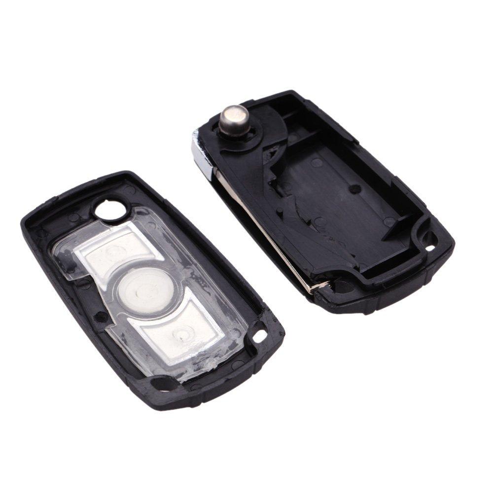 Folding Flip Car Keyless Key Shell Fob Case For Bmw 3 5 7