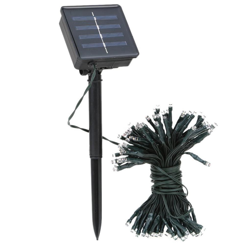 solar lichterkette blau 120 leds 13 m lang fuer den. Black Bedroom Furniture Sets. Home Design Ideas