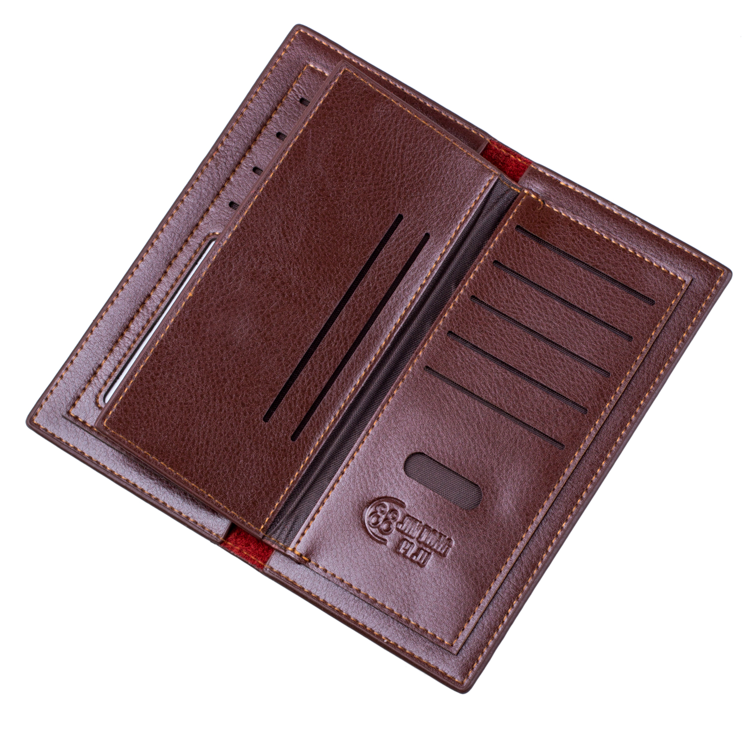 Woerfu men39s long business faux leather wallet credit for Mens business card case