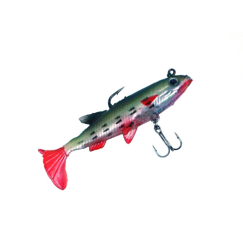 5pcs 14g soft bait lead fish lures bass fishing tackle for Bass fishing swimbaits