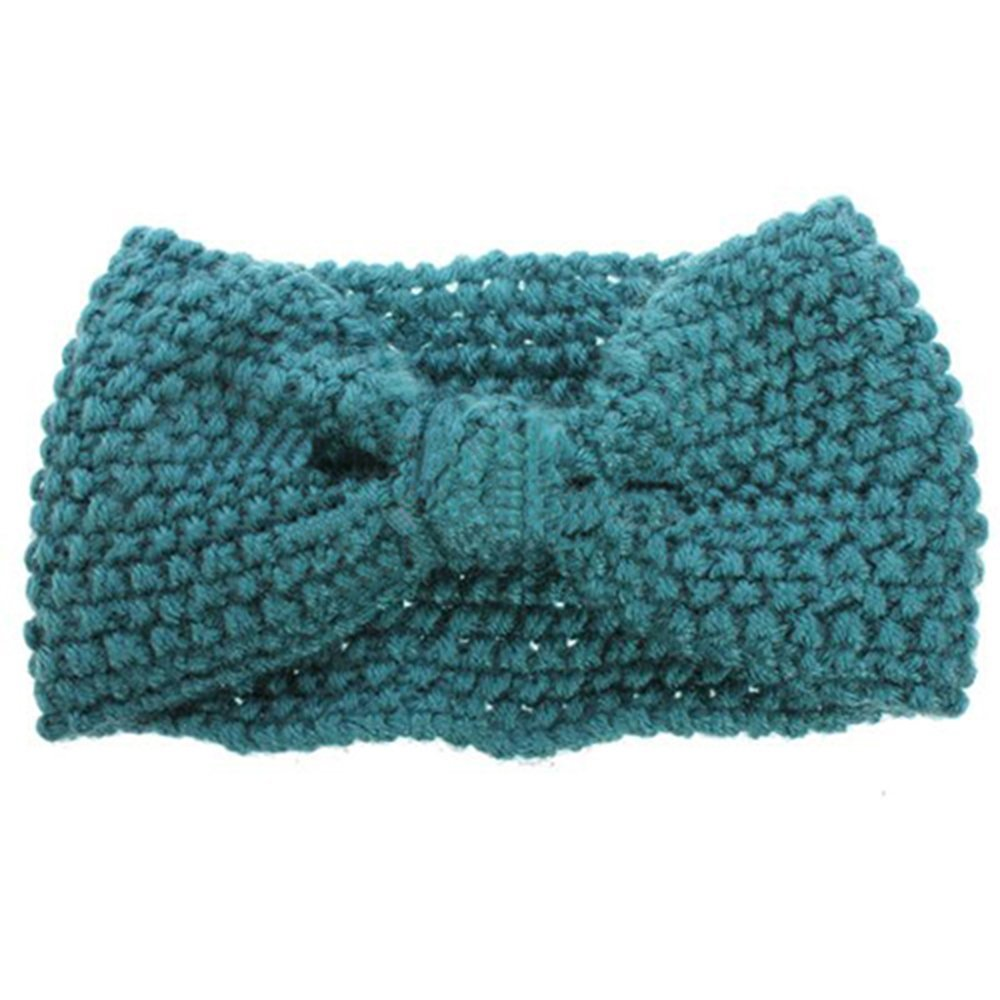 W6 Crochet Flower Bow Knitted Head wrap Headband Hair Band eBay