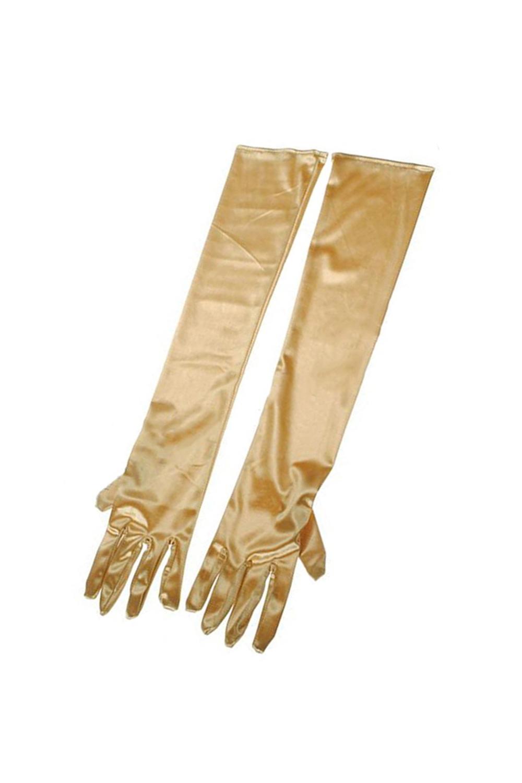 22-034-Women-039-s-Long-Satin-Elbow-Gloves-Evening-Party-gold-H8G2