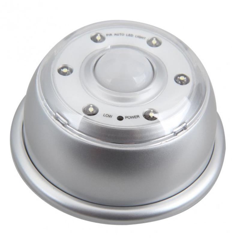 PIR 6 LED Licht Lampe Infrarot Sensor Bewegungsmelder von Lichtern Silber G6J -> Led Lampe Infrarot