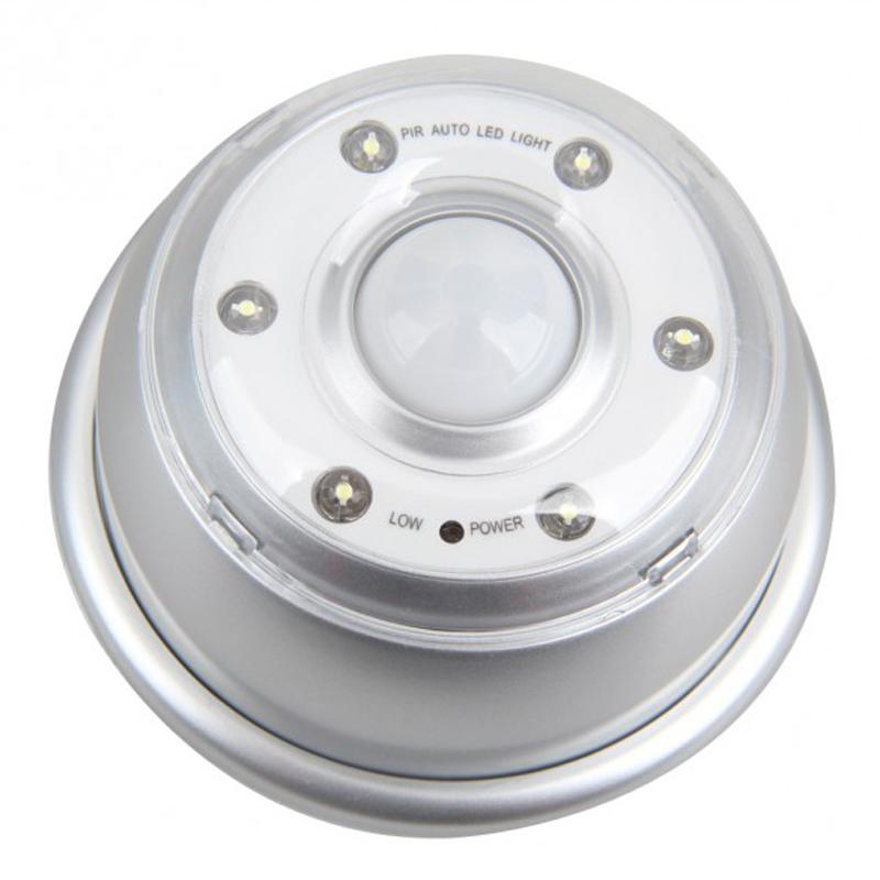 PIR 6 LED Licht Lampe Infrarot Sensor Bewegungsmelder von Lichtern Silber G6J # Led Lampe Infrarot