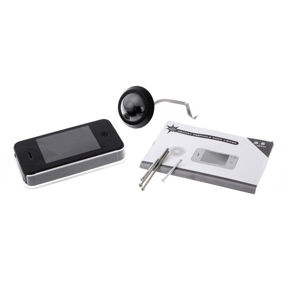 5x 3 5 inch tft digital camera photo memory peephole door for Door viewer camera