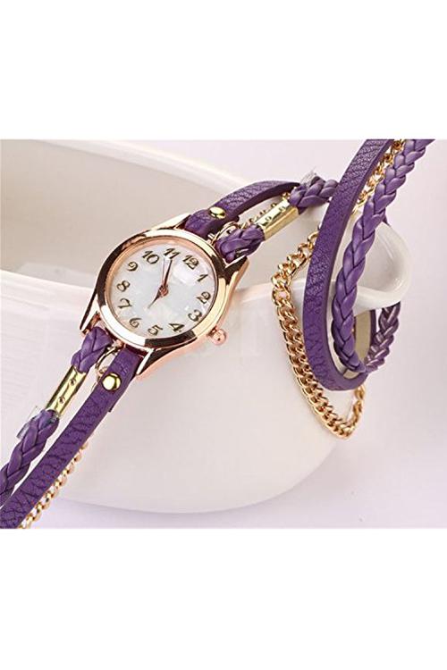 retro bracelet montre de bracelet en cuir synthetique montre a la mode wt ebay. Black Bedroom Furniture Sets. Home Design Ideas