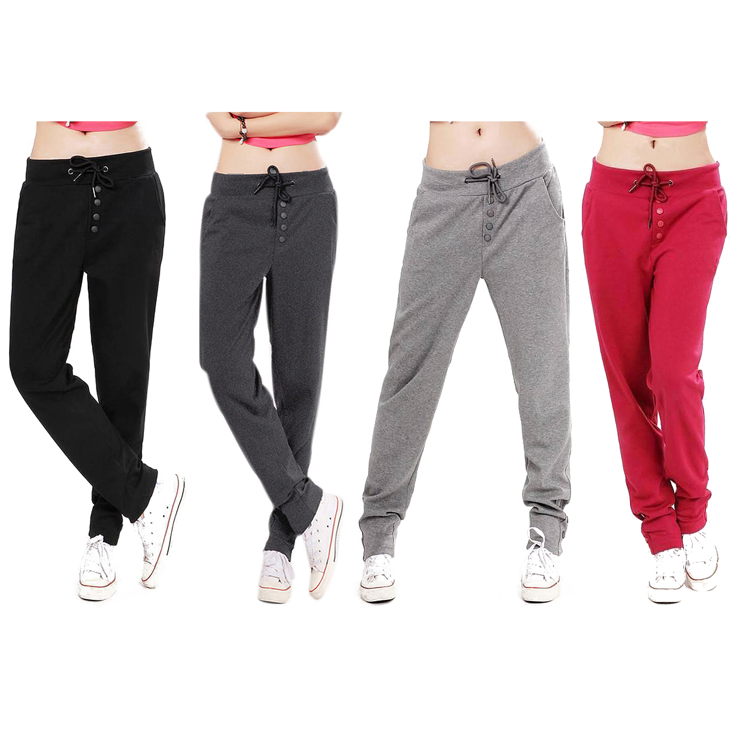 Beautiful Women Harem Pants Baggy Hip Hop Dance Trousers Casual Fashion US S M L