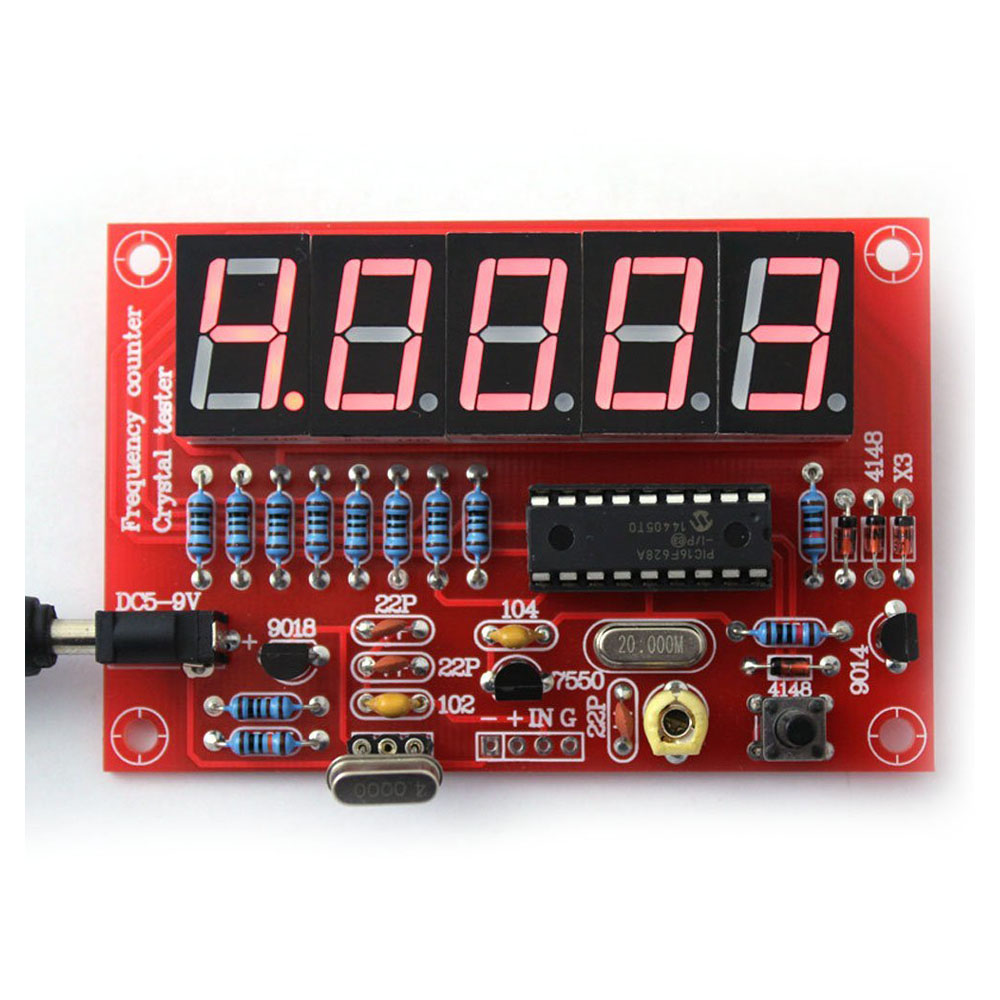 Complete Frequency Counter Circuit : F mhz crystal oscillator frequency counter testers