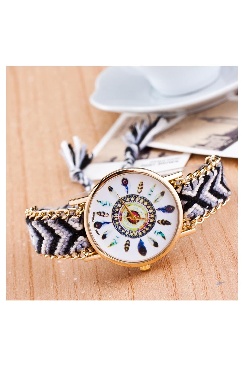 Reloj de pulsera de cadena trenzada de oro para mujeres de - Reloj de cadena ...