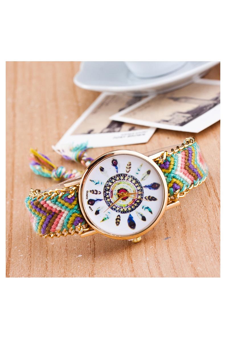 3X-Reloj-de-pulsera-de-cadena-trenzada-de-oro-para-mujeres-de-color-No-6-W6C4