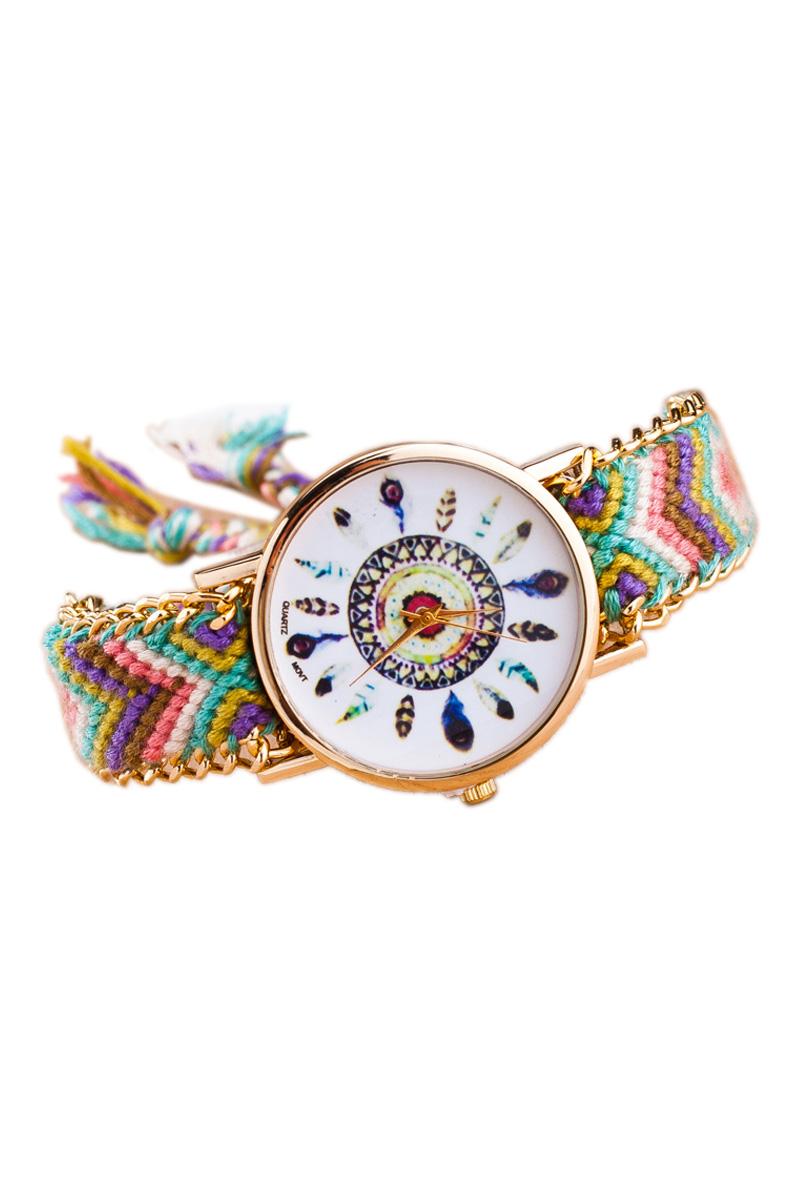 Reloj de pulsera de cadena trenzada de oro para mujeres p7 - Reloj de cadena ...