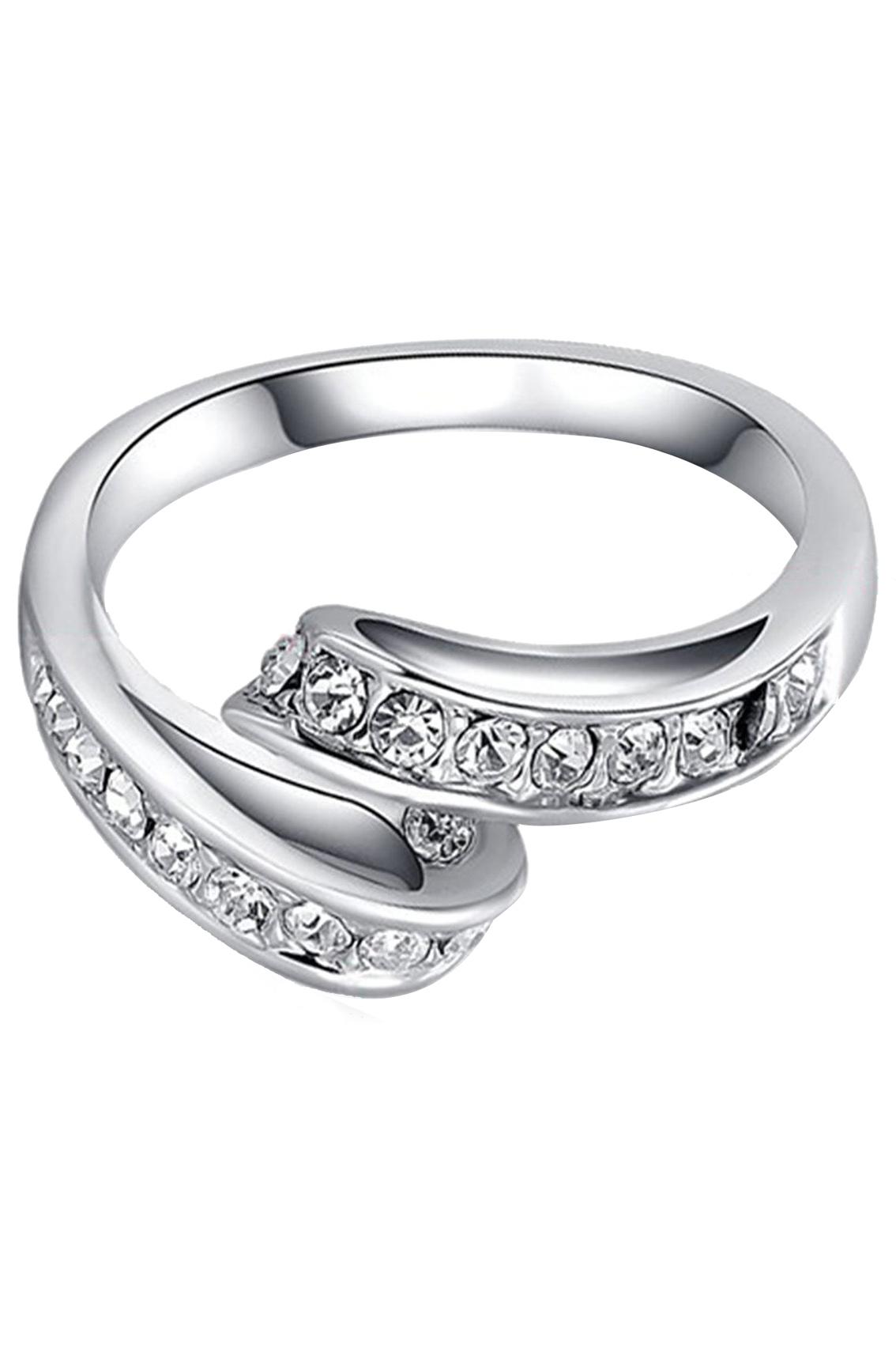 Women-039-s-sparkling-crystal-rhinestone-design-wedding-rings-jewelry-elegant-A4J6