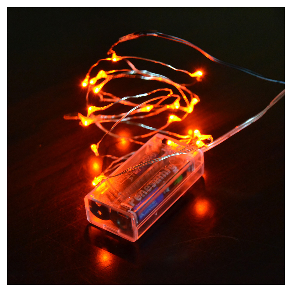mini micro battery powered led string light copper wire. Black Bedroom Furniture Sets. Home Design Ideas